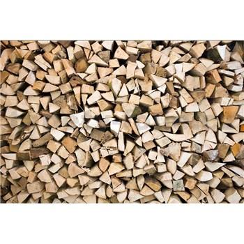 Vliesové fototapety drevené kláty rozmer 375 cm x 250 cm