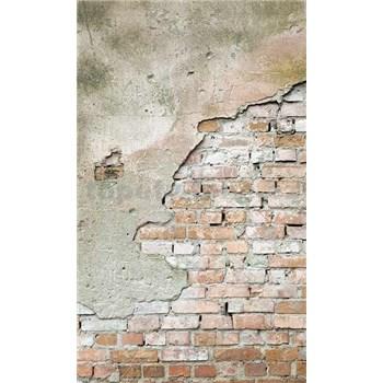 Vliesové fototapety tehlová stena s omietkou rozmer 150 cm x 250 cm