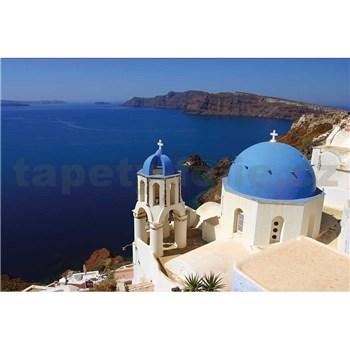 Vliesové fototapety Santorini rozmer 375 cm x 250 cm