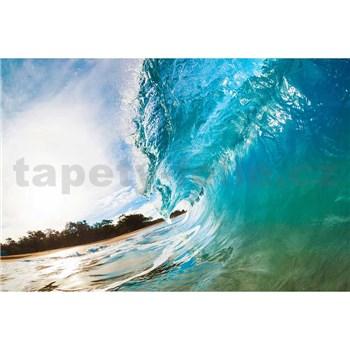 Vliesové fototapety vlny oceánu rozmer 375 cm x 250 cm