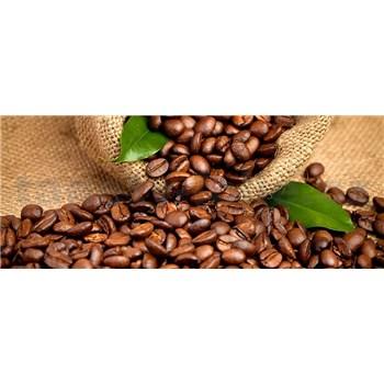Vliesové fototapety kávová zrnká rozmer 375 cm x 150 cm