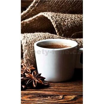 Vliesové fototapety hrnček s kávou rozmer 150 cm x 250 cm