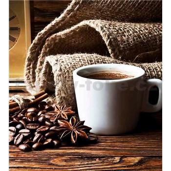 Vliesové fototapety hrnček s kávou rozmer 225 cm x 250 cm