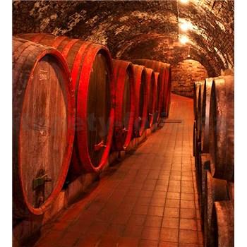 Vliesové fototapety sudy s vínom rozmer 225 cm x 250 cm
