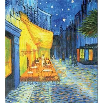 Vliesové fototapety terasa kaviarne v noci - Vincent Van Gogh rozmer 225 cm x 250 cm