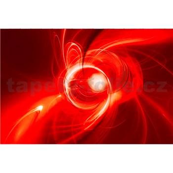 Vliesové fototapety abstrakt oranžový rozmer 375 cm x 250 cm