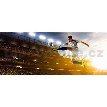 Vliesové fototapety futbalový hráč rozmer 375 cm x 150 cm