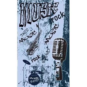 Vliesové fototapety music blue rozmer 150 cm x 250 cm