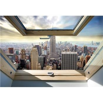 Vliesové fototapety New York Manhattan pohľadom zo strešného okna rozmer 368 cm x 254 cm