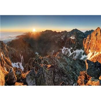 Vliesové fototapety Alpy a západ slnka, rozmer 312 x 219 cm
