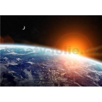 Vliesové fototapety pohľad na zemi z vesmíru rozmer 368 cm x 254 cm