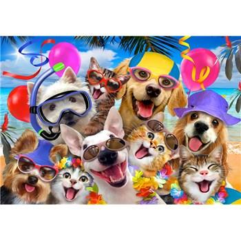 Vliesové fototapety selfie mačky a psy rozmer 368 cm x 254 cm
