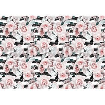 Vliesové fototapety ružové ruže rozmer 368 cm x 254 cm