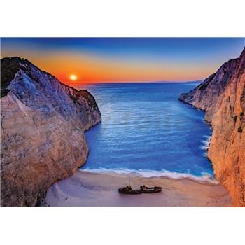 Vliesové fototapety západ slnka na Zakynthosu rozmer 368 cm x 254 cm