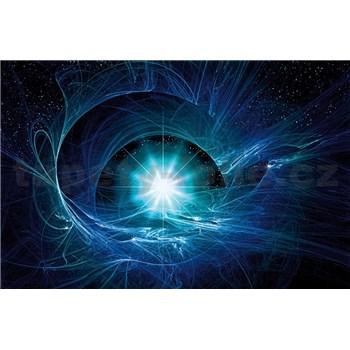 Vliesové fototapety modrý vesmírny Twist rozmer 104 cm x 70,5 cm
