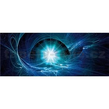 Vliesové fototapety modrý vesmírny Twist, rozmer 250 cm x 104 cm