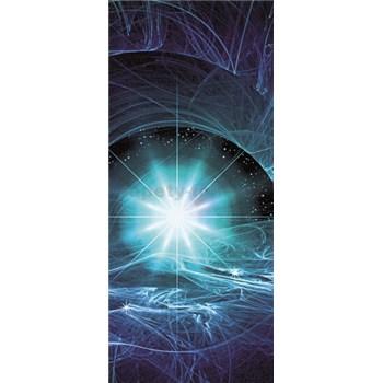 Vliesové fototapety modrý vesmírny Twist, rozmer 91 cm x 211 cm