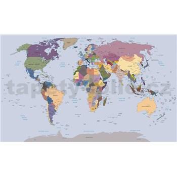 Vliesové fototapety mapa sveta, rozmer 104 cm x 70,5 cm