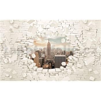Vliesové fototapety 3D New York, rozmer 416 cm x 254 cm