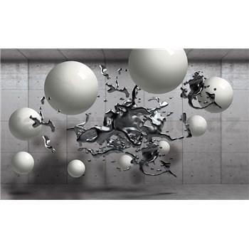 Vliesové fototapety 3D guľe, rozmer 208 cm x 146 cm