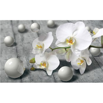 Fototapety orchidea s perlami, rozmer 368 cm x 254 cm