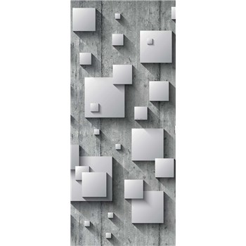 Vliesové fototapety 3D štvorce, rozmer 91 cm x 211 cm