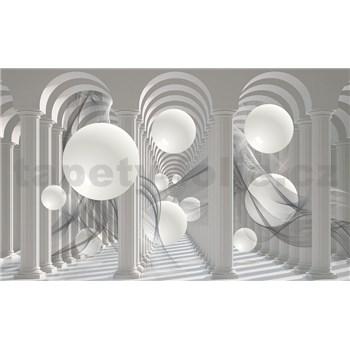 Fototapety 3D biele gule, rozmer 368 cm x 254 cm