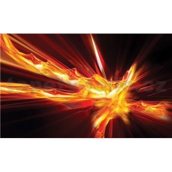Vliesové fototapety abstrakcie ohnivá, rozmer 416 cm x 254 cm