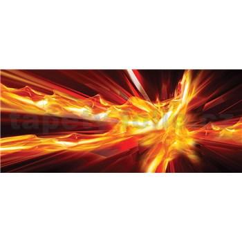 Vliesové fototapety abstrakcie ohnivá, rozmer 250 cm x 104 cm