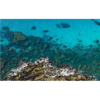 Vliesové fototapety Hefele žiarivo modré more, rozmer 450 cm x 280 cm