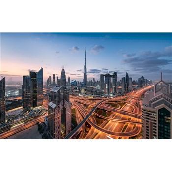 Vliesové fototapety Hefele svetla v Dubaji, rozmer 450 cm x 280 cm