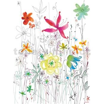 Vliesové fototapety Joli farebný akvarel rozmer 184 cm x 254 cm