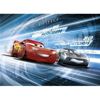 Fototapeta Disney Cars3 Mc Queen a Jackson Storm Simulation rozmer 254 cm x 184 cm