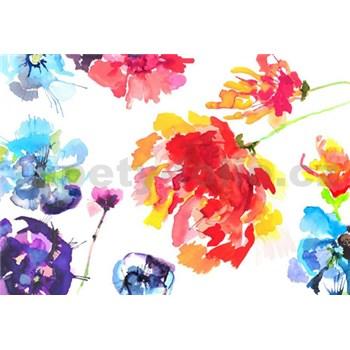Fototapety kvety maľované akvarelom, rozmer 368 x 254 cm