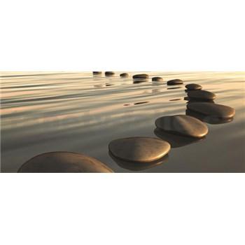 Vliesové fototapety kamene na pláži, rozmer 250 x 104 cm