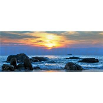 Vliesové fototapety západ slnka nad morom, rozmer 250 x 104 cm
