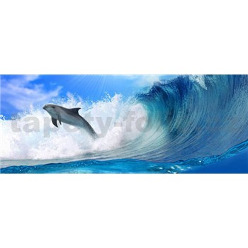 Vliesové fototapety delfín, rozmer 250 x 104 cm