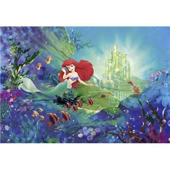 Fototapety Disney Malá morská víla Arielin zámok rozmer 368 cm x 254 cm