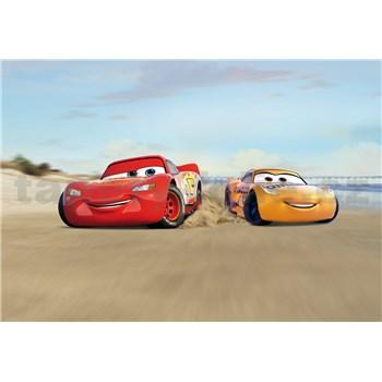Fototapety Disney Cars Mc Queen a Cruz Ramirez závod na pláži rozmer 368 cm x 254 cm