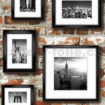 Papierové tapety na stenu Freestyle obrazy na červenej tehlovej stene