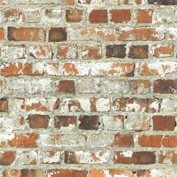 Papierové tapety na stenu Freestyle tehlová stena červená