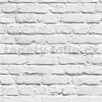 Papierové tapety na stenu Freestyle tehlová stena biela