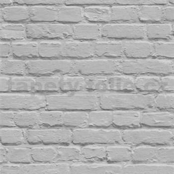 Papierové tapety na stenu Freestyle tehlová stena sivá