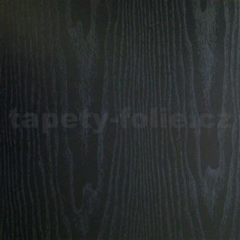 Samolepiace tapety čierne drevo - 90 cm x 15 m