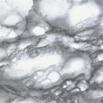 Samolepiace tapety mramor Carrara šedá , metráž, šírka 67,5cm, návin 15m,