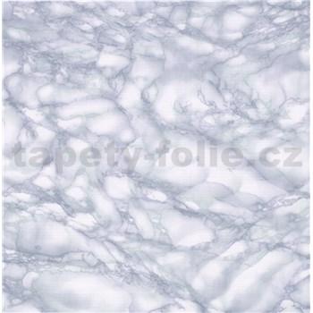 Samolepiace tapety mramor Carrara svetlo modrá 90 cm x 15 m