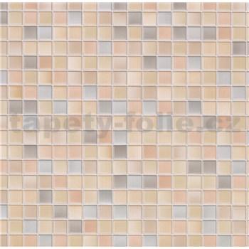 Samolepiace tapety - malé kachličky - farebná pienza