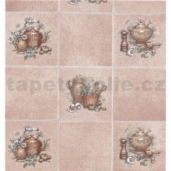 Samolepiace tapety kuchynské kachličky hnedé 45 cm x 15 m