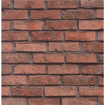 Samolepiace tapety - tehlový múr, metráž, šírka 67,5 cm, návin 15m,