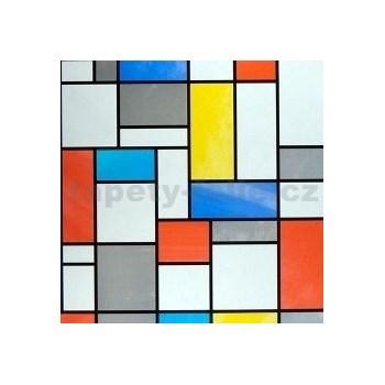 Samolepiace tapety transparentné Mondriaan , metráž, šírka 67,5cm, návin 15m,